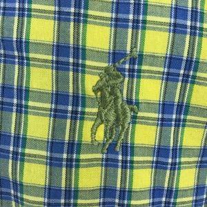 Ralph Lauren BLAKE L/S yellow plaid button down